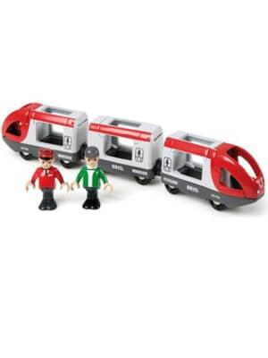 רכבת נוסעים ו-2 דמויות