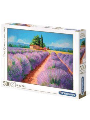 פאזל שדות לבנדר - 500 חלקים