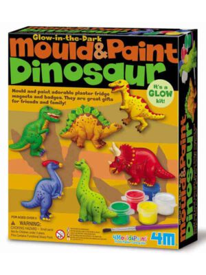 מגנטים גבס – דינוזאורים זוהרים